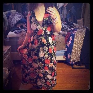 Disney beauty and the beast floral maxi dress